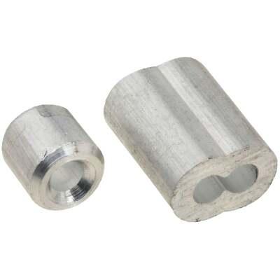 National 1/8 In. Aluminum Garage Door Ferrule & Stop Kit
