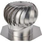 """Ventamatic Cool Attic 12"""" Aluminum Mill Wind Turbine Attic Vent Image 1"""