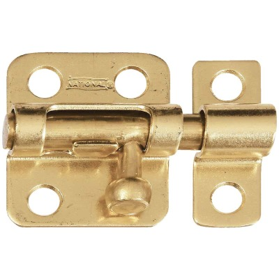 National 2 In. Solid Brass Door Barrel Bolt