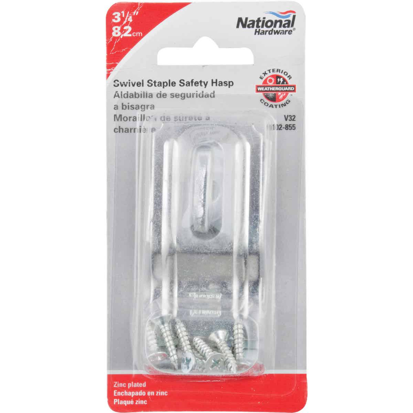 National 3-1/4 In. Zinc Swivel Safety Hasp Image 2
