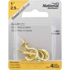 National V2021 1 In. Solid Brass Series Cup Hook (4 Count) Image 2