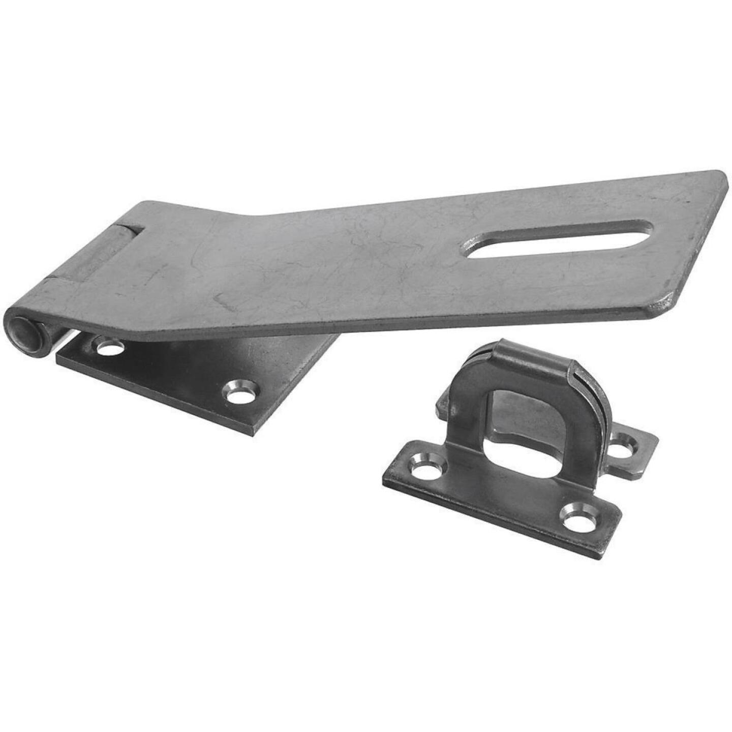 National 7 In. Zinc Non-Swivel Safety Hasp Image 1