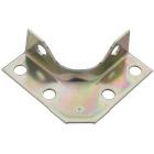 National Catalog V114 Series 2 In. x 5/8 In. Zinc Corner Brace (4-Count) Image 1