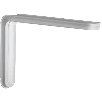 Knape & Vogt Slim-Line 10 In. D. x 6.5 In. H. White Steel L Bracket