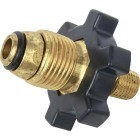 MR. HEATER Brass POL x 1/4 In. Male LP Excess Flow Regulator Image 1