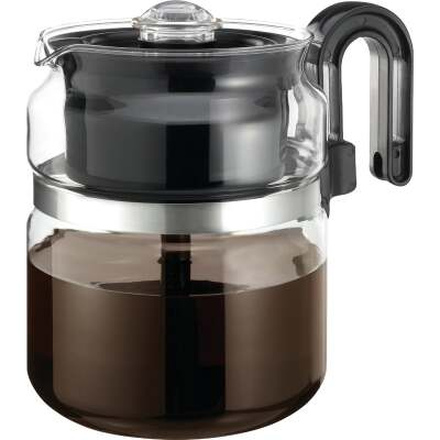 Medelco 8 Cup Glass Stovetop Coffee Percolator