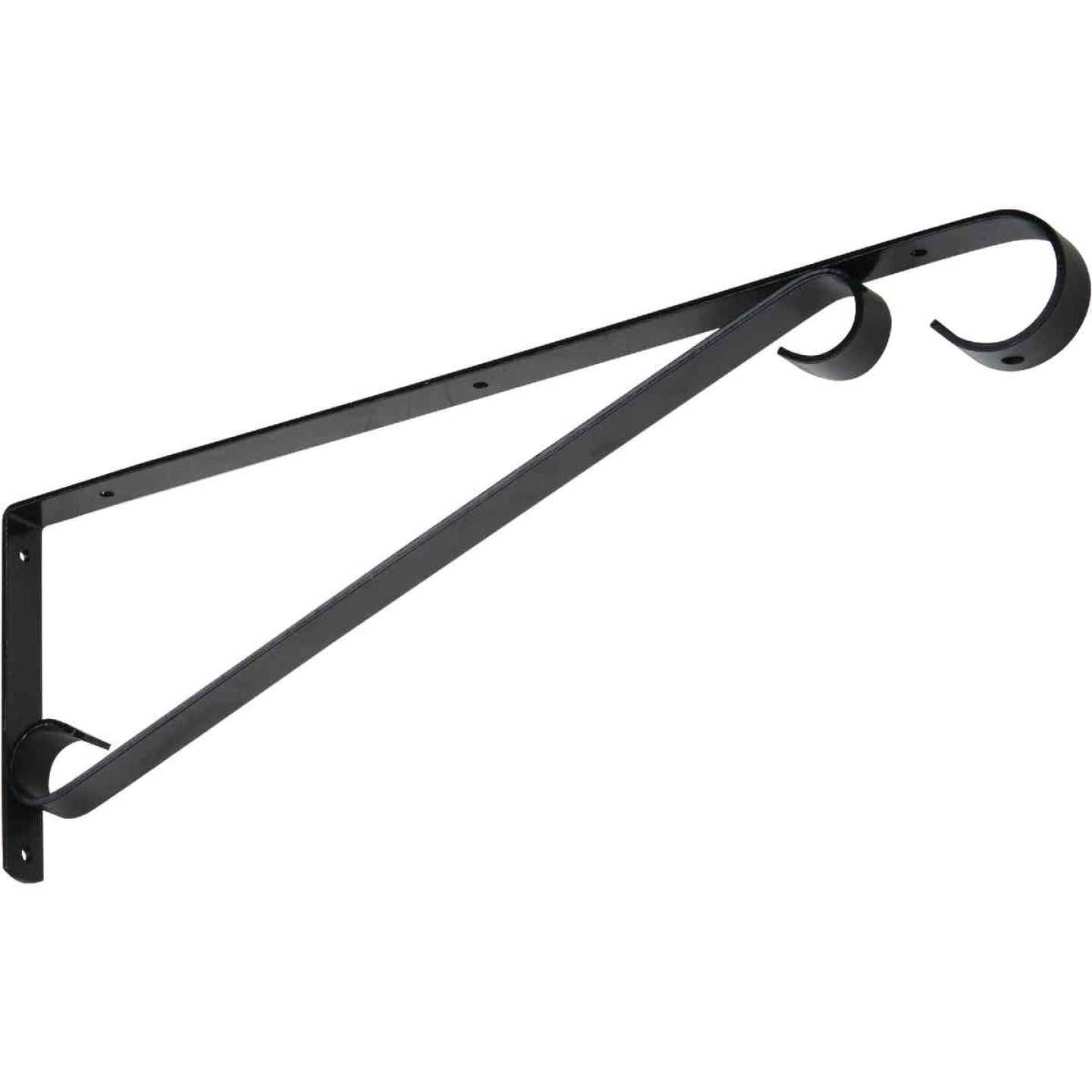 National 15 In. Black Steel Hanging Plant Bracket Image 1