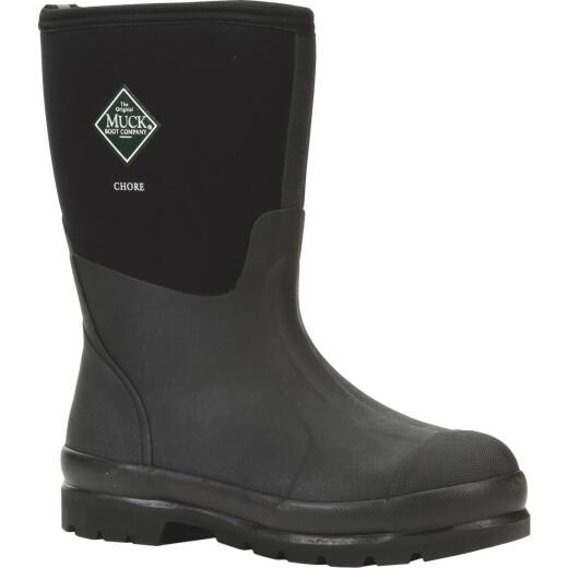 Muck Chore Mid Men's Size 11 Black Rubber Work Boot