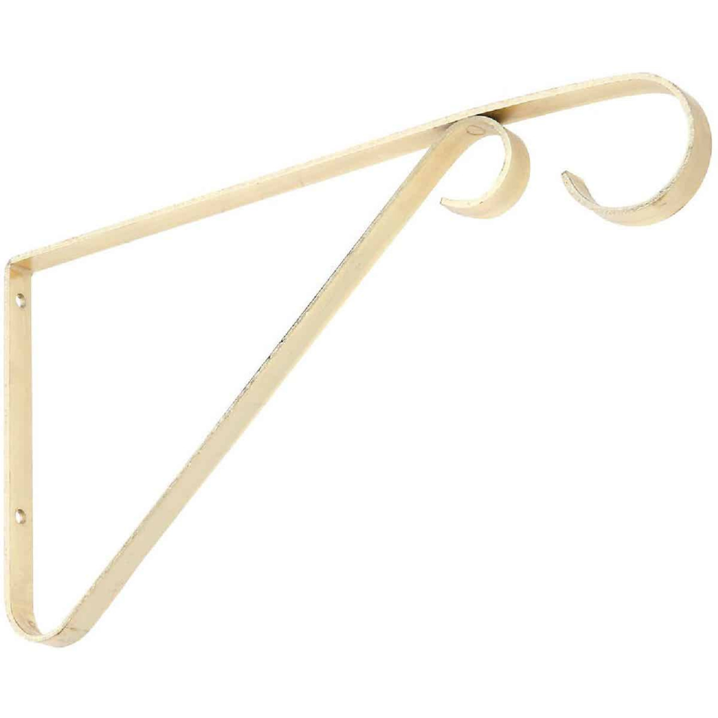 National 6 In. Brass Steel Hanging Plant Bracket Image 1