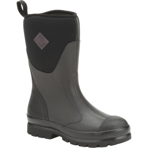 Muck Chore Mid Women's Size 7 Black Rubber Pull-On Boot