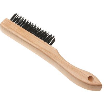 Best Look Wood Shoe Handle Wire Brush