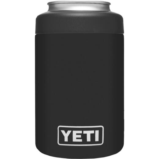 Yeti Rambler Colster 12 Oz. Black Stainless Steel Insulated Drink Holder with Load-And-Lock Gasket